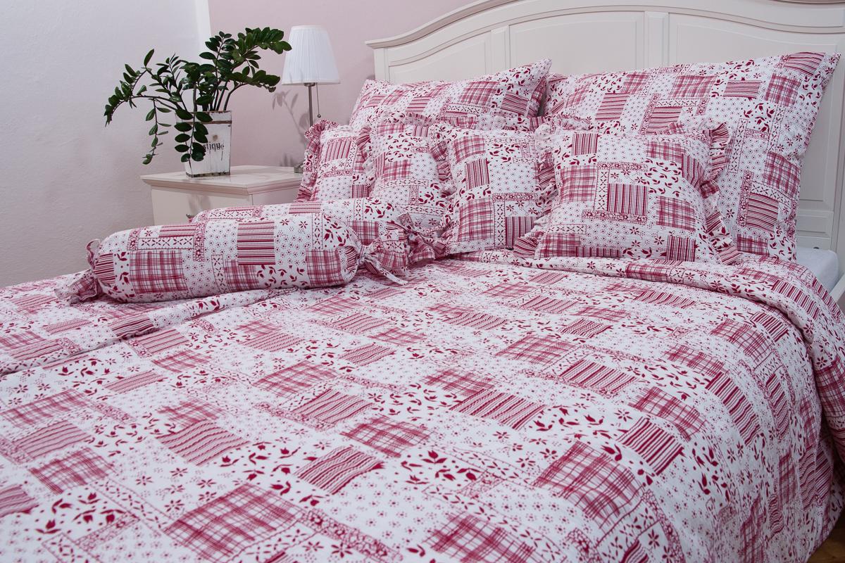 Bavlněný povlak - Winter patchwork červený - 1x 70 90  3f25e27c894