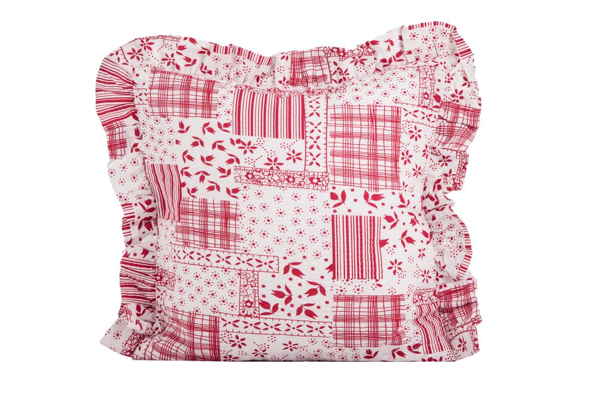 Bavlněný povlak kanýr - Winter patchwork červený - 1x 40 40 ffaabba0cd4