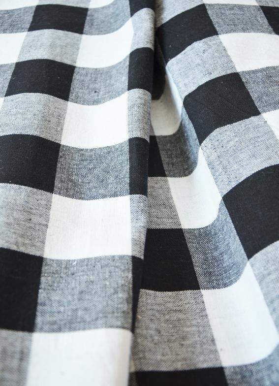 2ab31e8a67a2 Metráž dekorační látka - Kanafas černý velká kostka