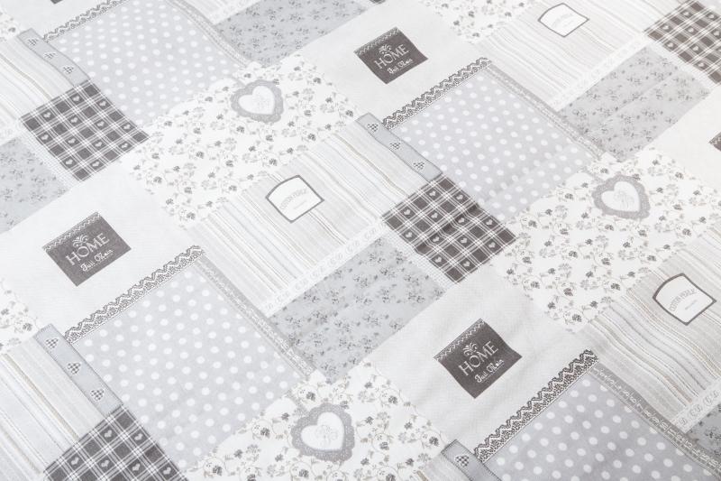 dc338533b Metráž bavlna - Patchwork deluxe šedý | Kubešová-povlečení