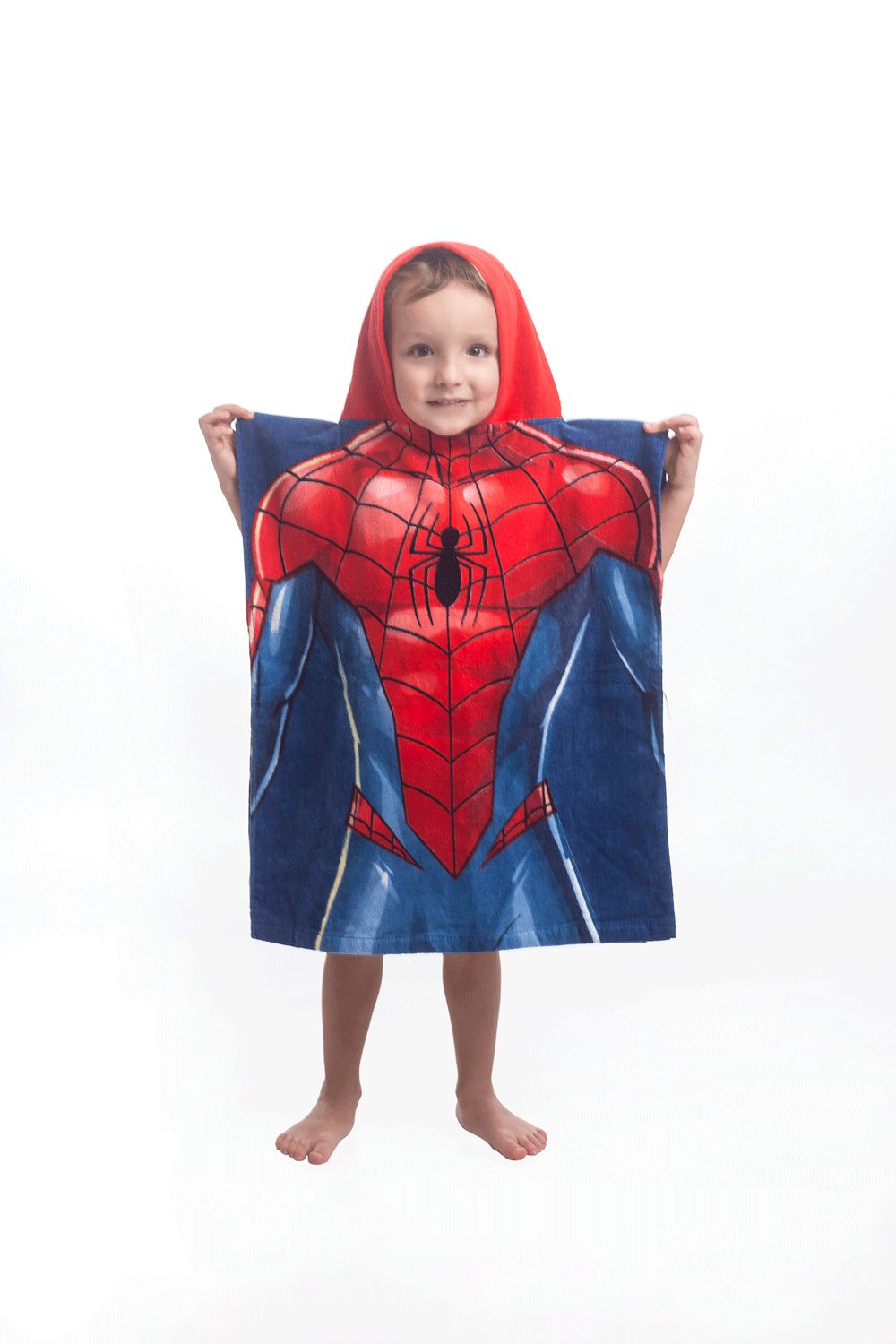 Pončo Spiderman blue - 50 x 115 cm